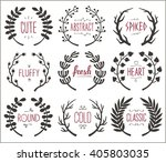 collection of hand drawn... | Shutterstock .eps vector #405803035