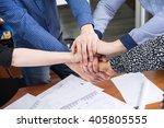 hands of people. business team. ... | Shutterstock . vector #405805555