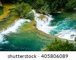 waterfalls in krka national... | Shutterstock . vector #405806089
