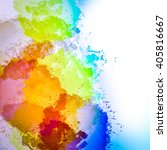 abstract watercolor painting... | Shutterstock . vector #405816667