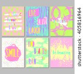 set of 6 bright freehand... | Shutterstock .eps vector #405816964