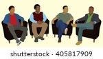 black or african american men... | Shutterstock .eps vector #405817909