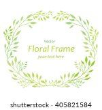 vector floral wreath isolated... | Shutterstock .eps vector #405821584