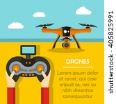 vector illustration with drone... | Shutterstock .eps vector #405825991