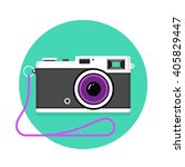 icon of vintage photo camera.... | Shutterstock .eps vector #405829447