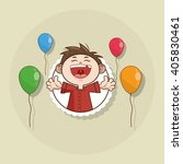 happy birthday and kid design   ... | Shutterstock .eps vector #405830461