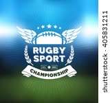 rugby logo vector  football... | Shutterstock .eps vector #405831211