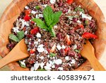 closeup on quinoa and red beans ...