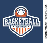 sport basketball logo. american ... | Shutterstock .eps vector #405843055