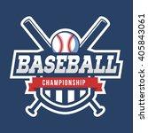sport baseball logo. american... | Shutterstock .eps vector #405843061