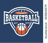 sport basketball logo. american ... | Shutterstock .eps vector #405843079