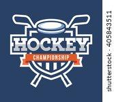 sport hockey logo. american... | Shutterstock .eps vector #405843511