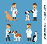 professional vet doctor with... | Shutterstock . vector #405852895