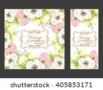 invitation with floral... | Shutterstock . vector #405853171