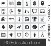 education vector icons set ... | Shutterstock .eps vector #405853741