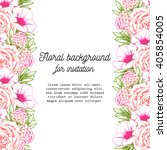 invitation with floral... | Shutterstock . vector #405854005