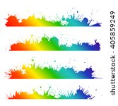 grunge border with rainbow... | Shutterstock .eps vector #405859249