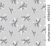 snowdrops seamless pattern | Shutterstock .eps vector #405860515