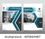 blue annual report brochure... | Shutterstock .eps vector #405864487