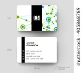business card vector template... | Shutterstock .eps vector #405868789