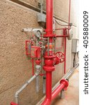 Small photo of soft focus water sprinkler and fire alarm system.