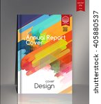 annual report cover. cover... | Shutterstock .eps vector #405880537