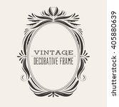 oval vintage ornate border... | Shutterstock .eps vector #405880639