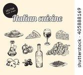 vector set of italian national... | Shutterstock .eps vector #405888169