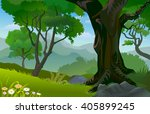 tropical rain forest trees in... | Shutterstock .eps vector #405899245