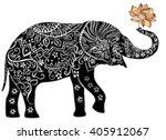 Elephant.silhouette Of Elephan...