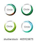 vector swirl set  elegant... | Shutterstock .eps vector #405923875