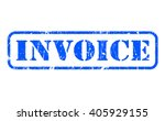 invoice rubber blue stamp text... | Shutterstock . vector #405929155