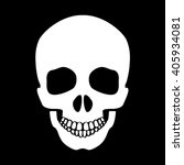 white human skull on black... | Shutterstock .eps vector #405934081