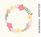 floral frame  for wedding... | Shutterstock .eps vector #405937135