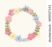 floral frame  for wedding... | Shutterstock .eps vector #405937141