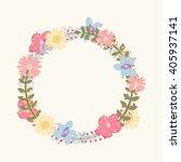 floral frame  for wedding... | Shutterstock .eps vector #405937141
