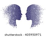 man and woman head icons....