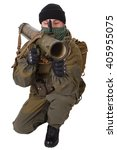 fighter with rpg rocket... | Shutterstock . vector #405955075