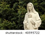 The Statue Of Virgin Mary And...