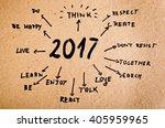 new year resolution 2017 goals... | Shutterstock . vector #405959965