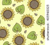 vector seamless sunflower... | Shutterstock .eps vector #405960325