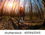 cyclist riding the bike   Shutterstock . vector #405965545