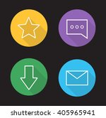 chat app ui linear icons set....
