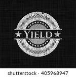 yield chalkboard emblem written ... | Shutterstock .eps vector #405968947