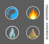 four elements signs and symbols ... | Shutterstock .eps vector #405969061