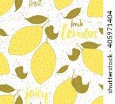 fruit seamless hand drawn...   Shutterstock .eps vector #405971404