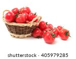 tomatoes isolated on white... | Shutterstock . vector #405979285