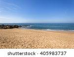Beach Rocks Blue Ocean Beach...