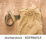vintage chino pants and army... | Shutterstock . vector #405986014