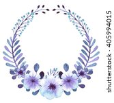 wreath with watercolor light... | Shutterstock . vector #405994015
